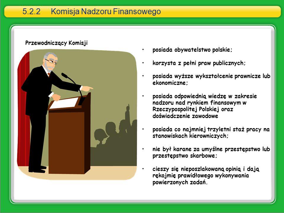 5.2.2 Komisja Nadzoru Finansowego