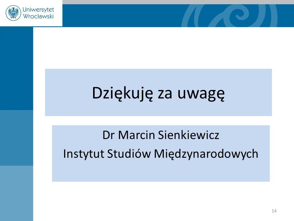 Dr Marcin Sienkiewicz Instytut Studiów Międzynarodowych