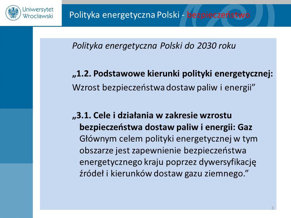 Polityka energetyczna Polski - bezpieczeństwo