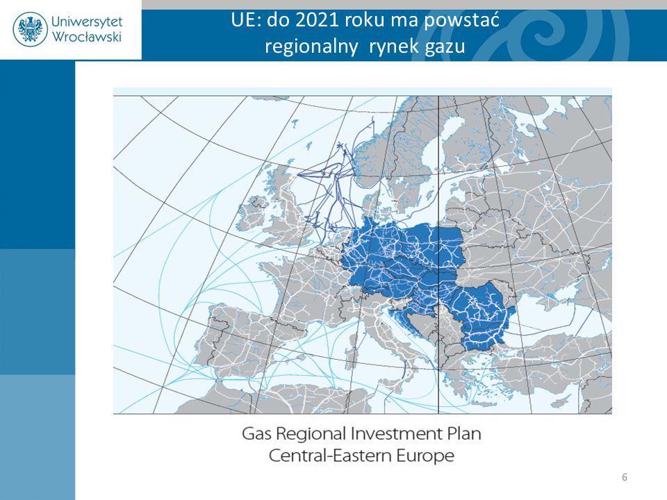UE: do 2021 roku ma powstać regionalny rynek gazu