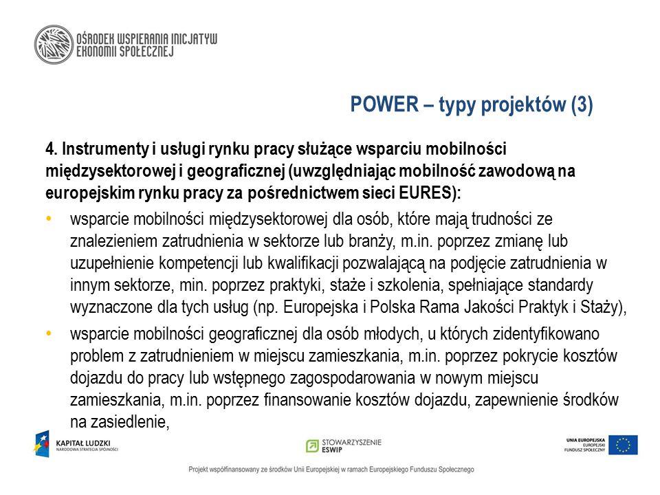 POWER – typy projektów (3)