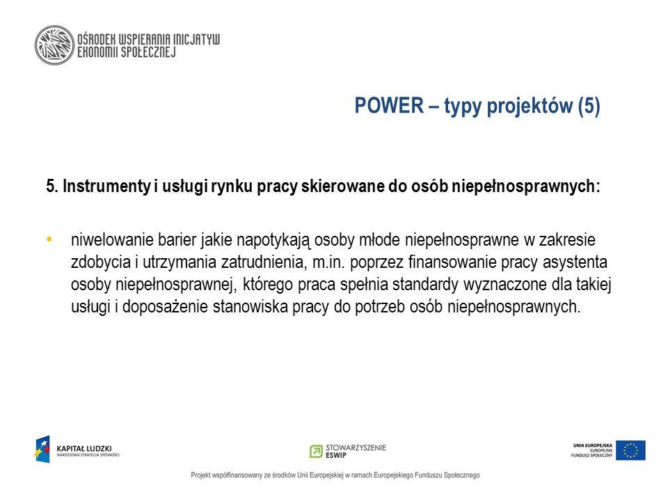 POWER – typy projektów (5)