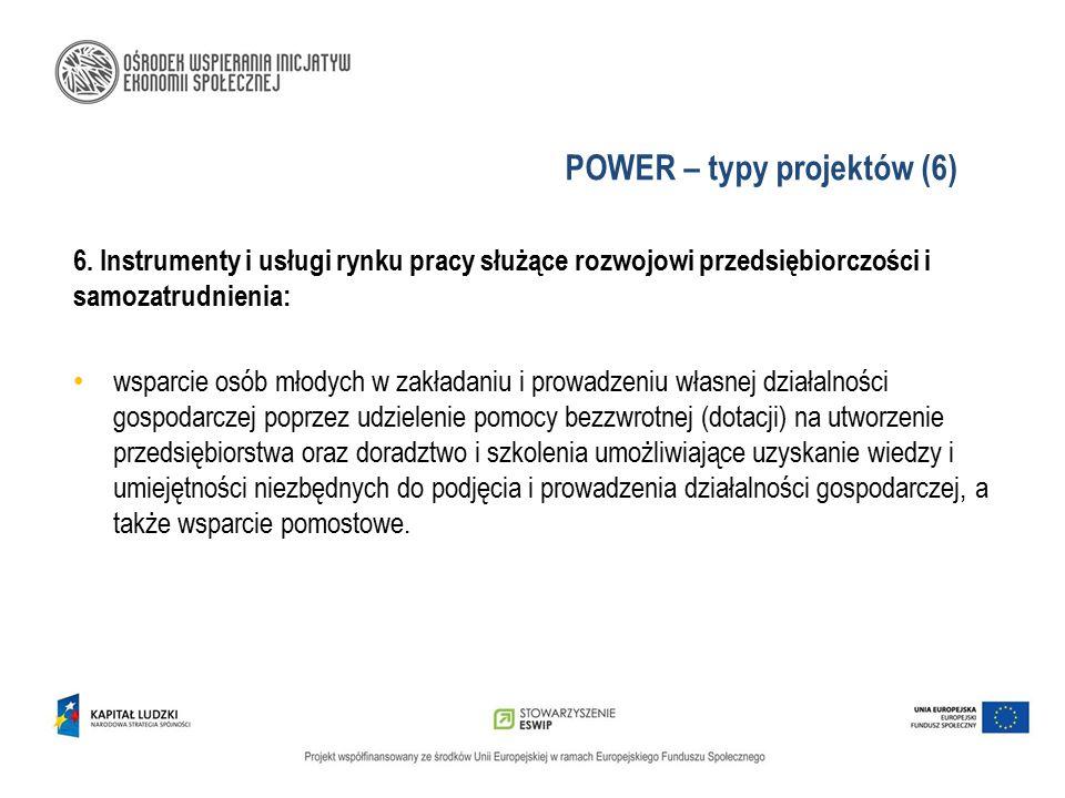POWER – typy projektów (6)
