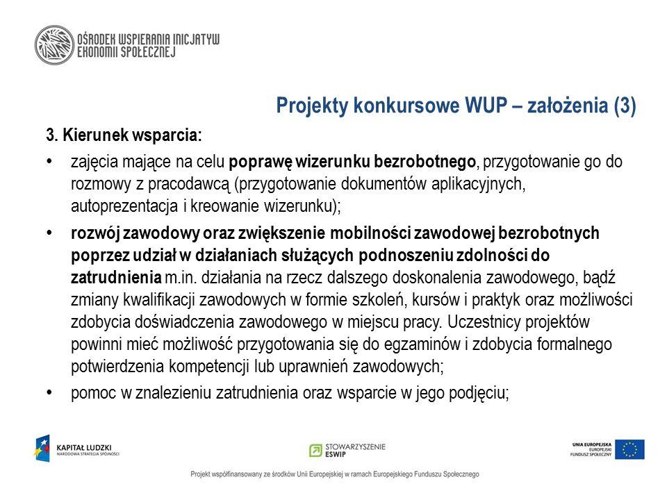 Projekty konkursowe WUP – założenia (3)