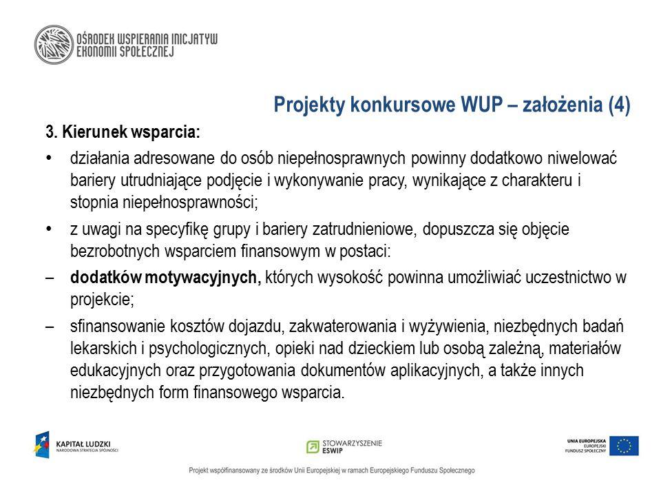 Projekty konkursowe WUP – założenia (4)
