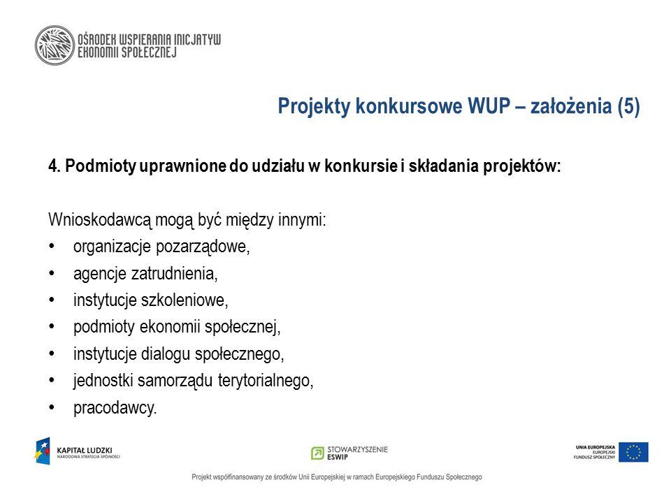 Projekty konkursowe WUP – założenia (5)