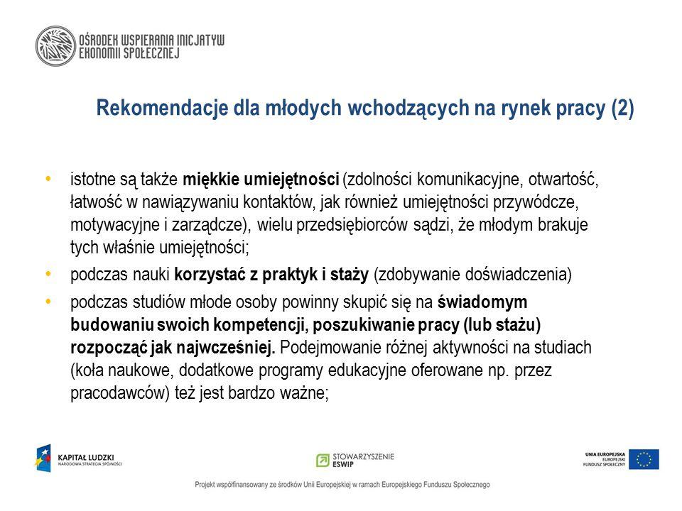 Rekomendacje dla młodych wchodzących na rynek pracy (2)