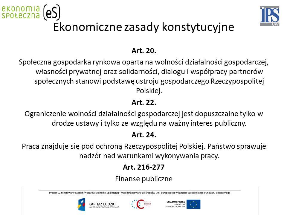 Ekonomiczne zasady konstytucyjne