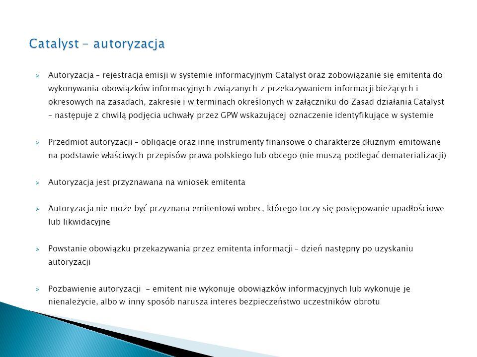 Catalyst - autoryzacja