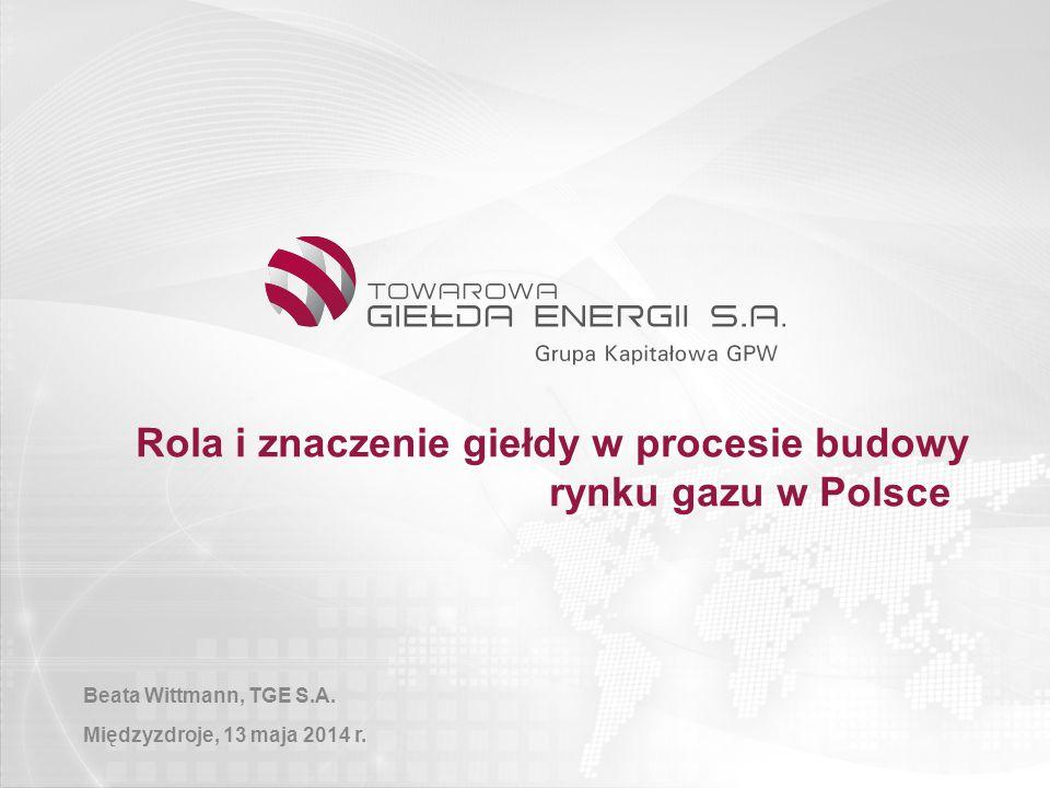 Rola i znaczenie giełdy w procesie budowy rynku gazu w Polsce