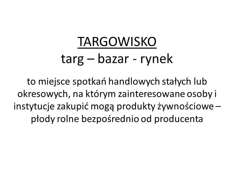 TARGOWISKO targ – bazar - rynek