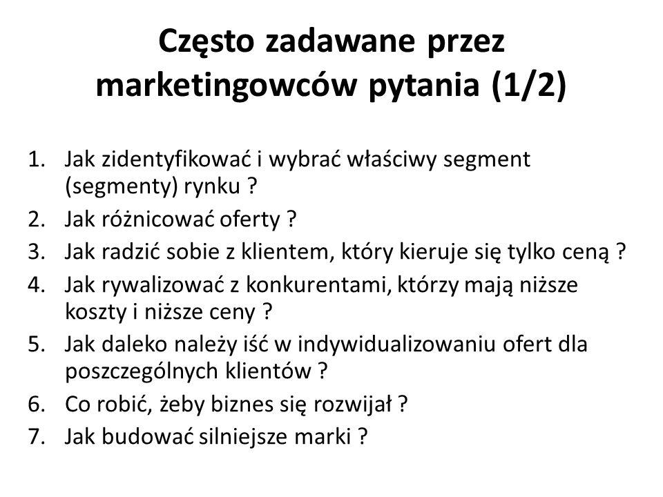 Często zadawane przez marketingowców pytania (1/2)