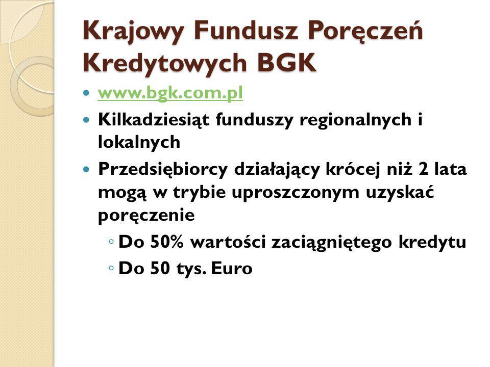 Krajowy Fundusz Poręczeń Kredytowych BGK