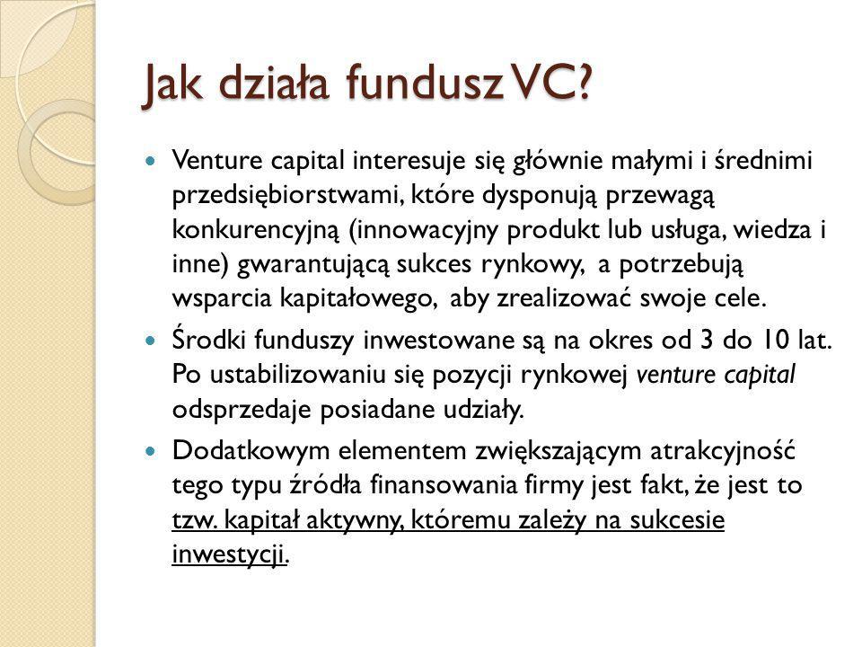 Jak działa fundusz VC
