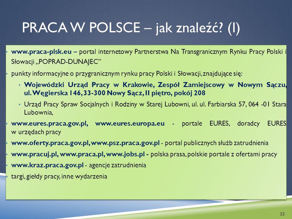 Praca w Polsce – jak znaleźć (I)