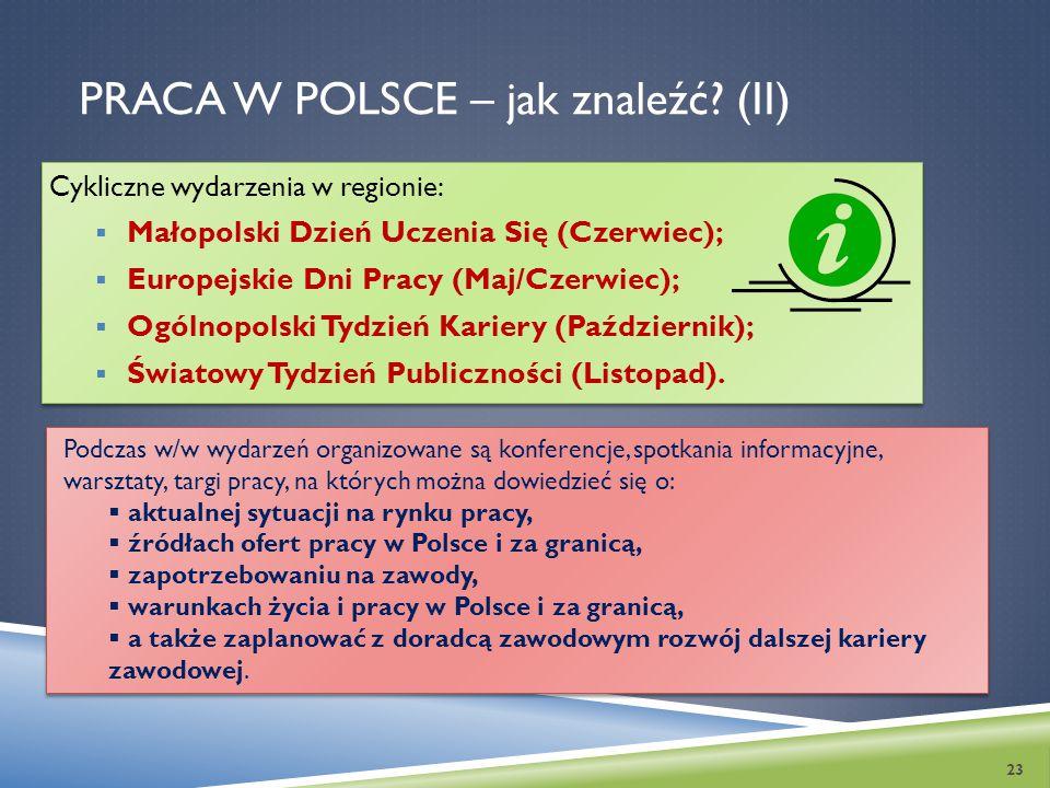 Praca w Polsce – jak znaleźć (II)