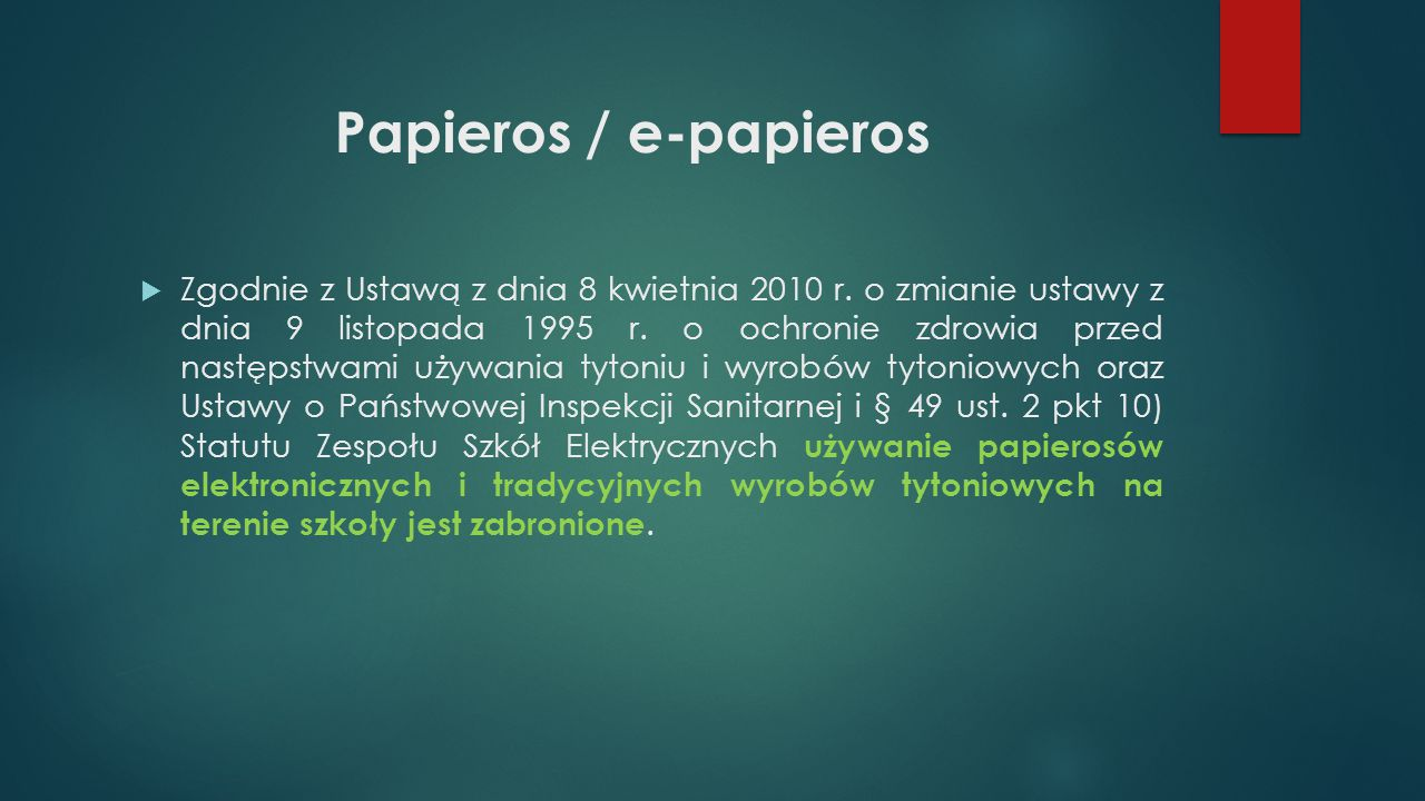 Papieros / e-papieros