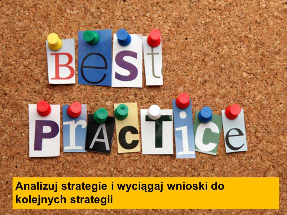 Analizuj strategie i wyciągaj wnioski do kolejnych strategii