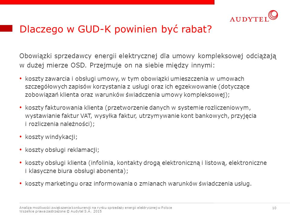Dlaczego w GUD-K powinien być rabat