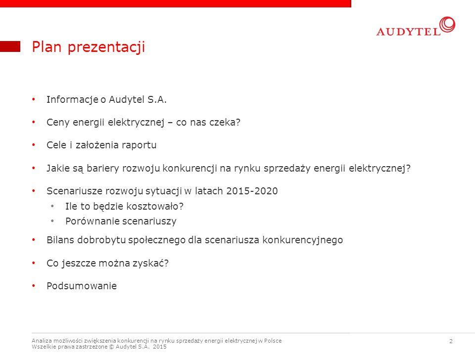 Plan prezentacji Informacje o Audytel S.A.