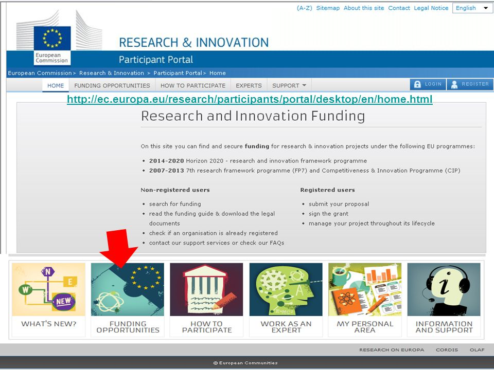 http://ec. europa. eu/research/participants/portal/desktop/en/home