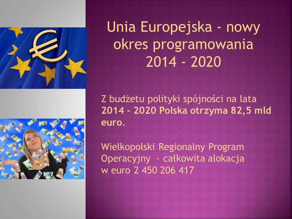 Unia Europejska - nowy okres programowania 2014 - 2020