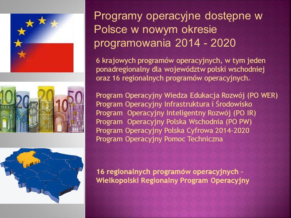Programy operacyjne dostępne w Polsce w nowym okresie programowania 2014 - 2020