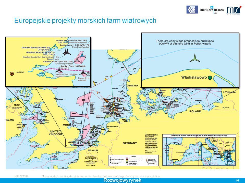 Europejskie projekty morskich farm wiatrowych
