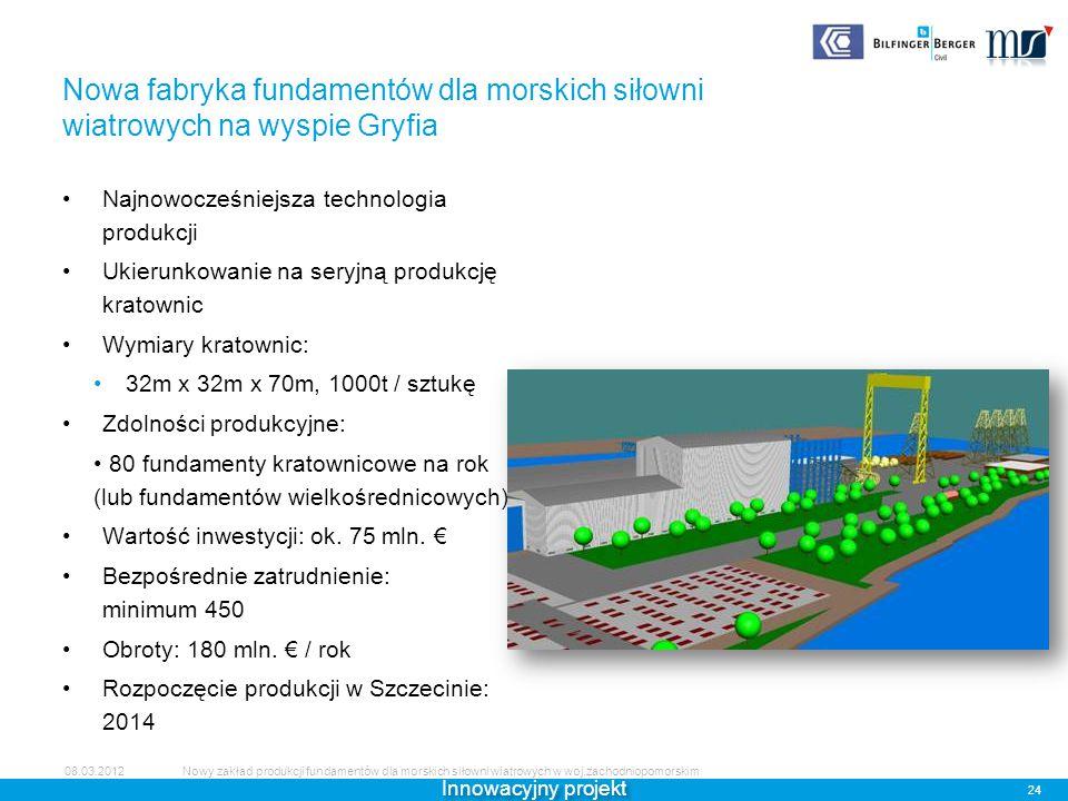 Nowa fabryka fundamentów dla morskich siłowni wiatrowych na wyspie Gryfia