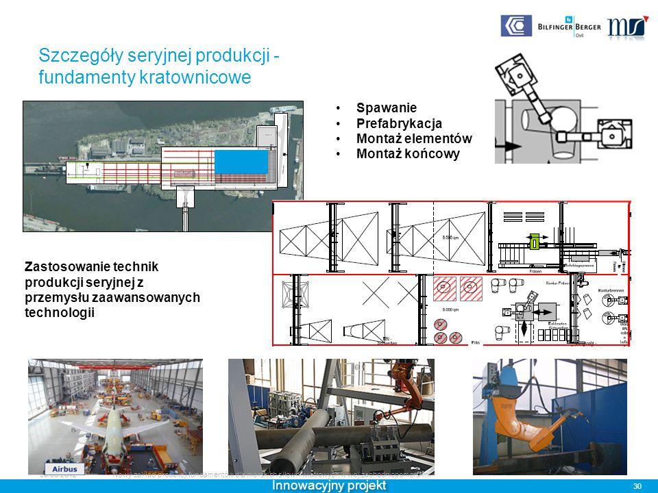 Szczegóły seryjnej produkcji - fundamenty kratownicowe