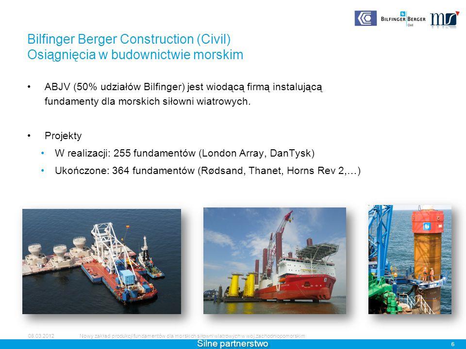 Bilfinger Berger Construction (Civil) Osiągnięcia w budownictwie morskim