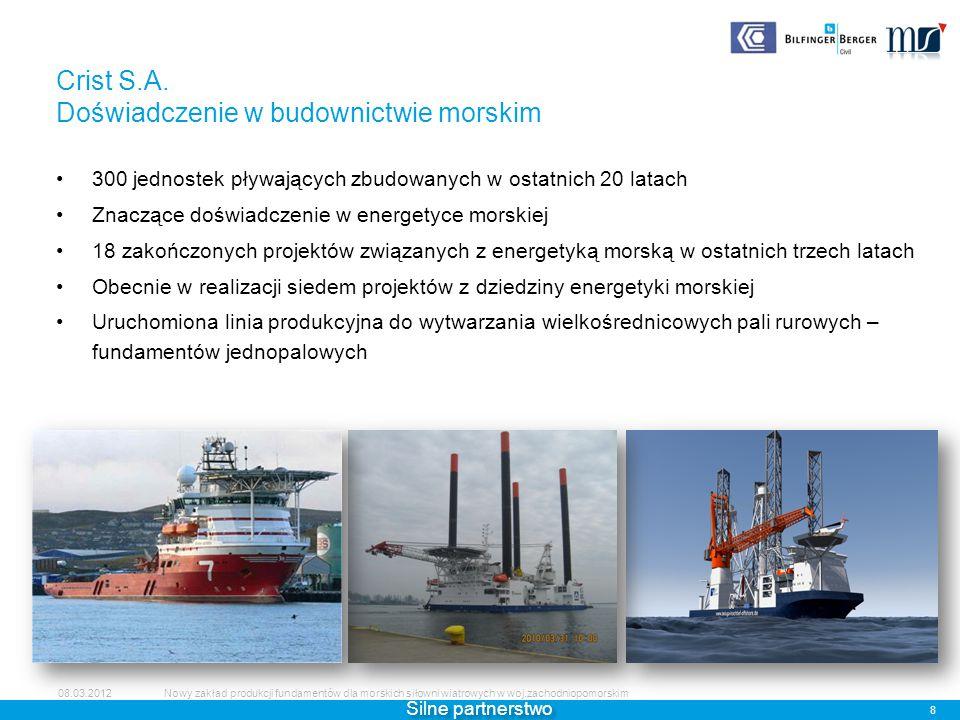 Crist S.A. Doświadczenie w budownictwie morskim