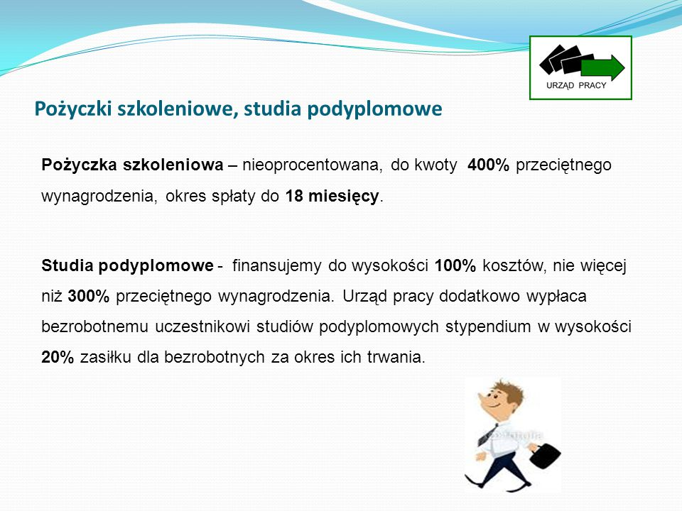 Pożyczki szkoleniowe, studia podyplomowe