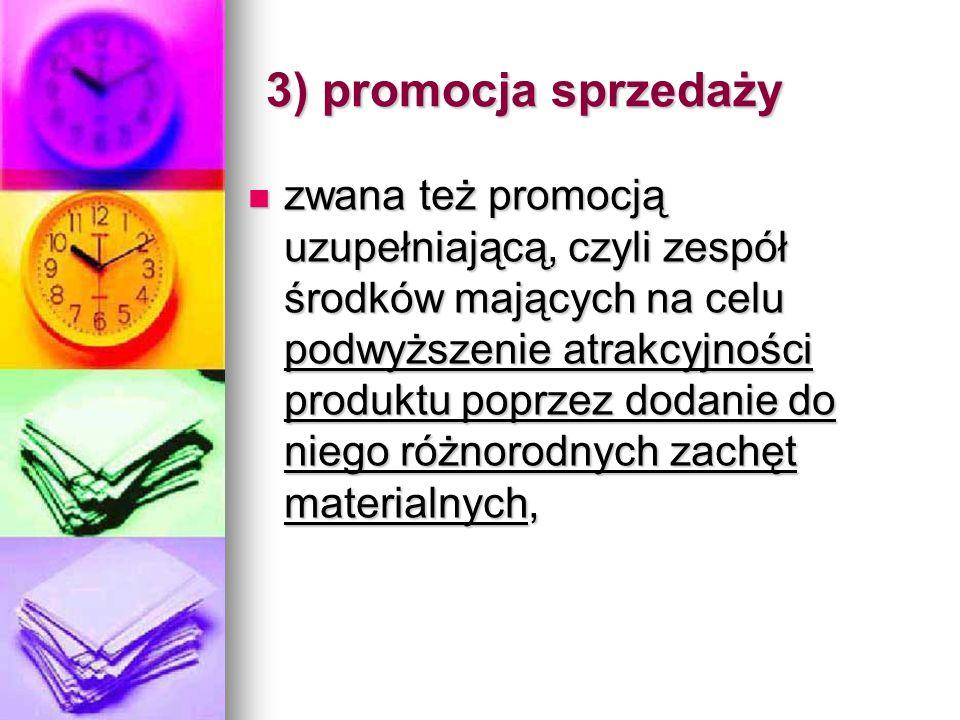 3) promocja sprzedaży