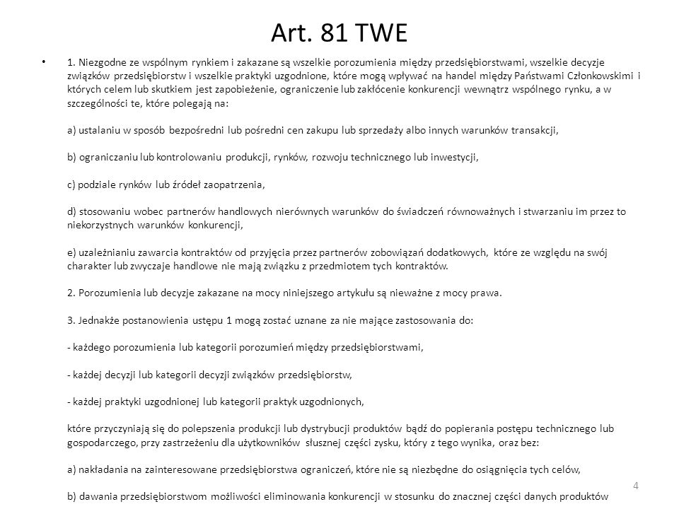 Art. 81 TWE