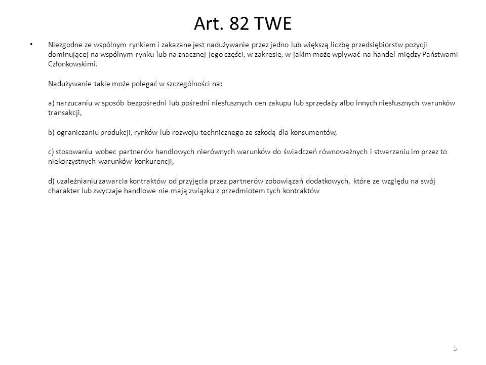 Art. 82 TWE