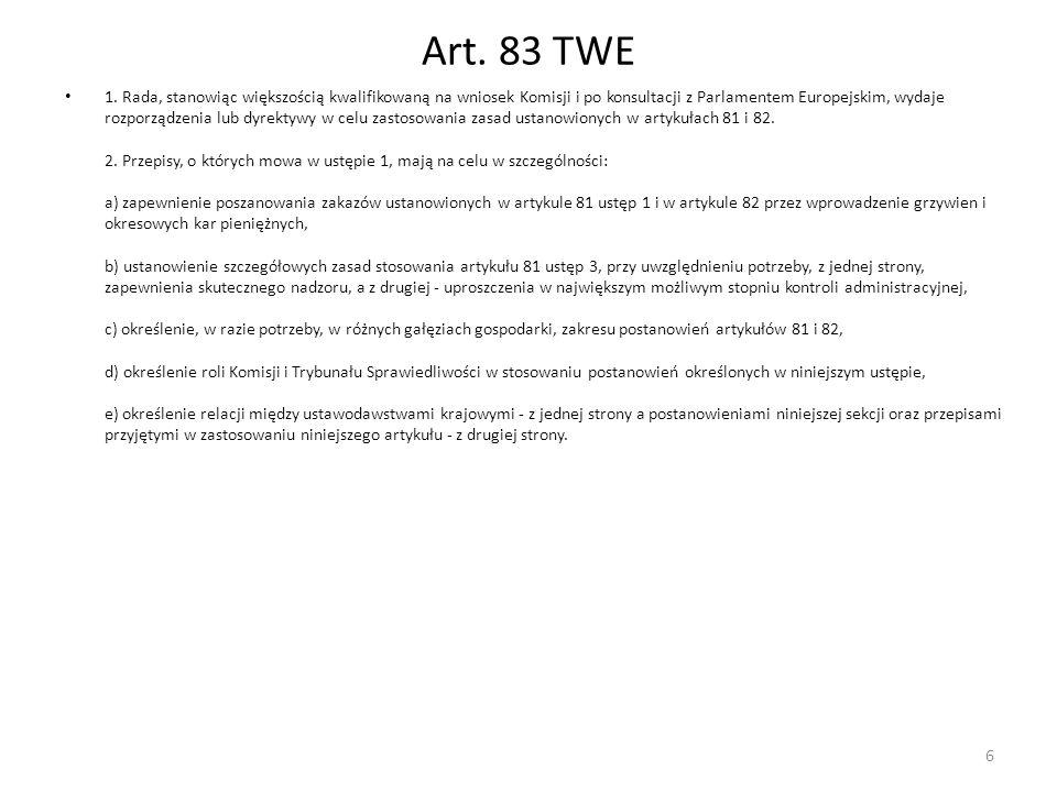 Art. 83 TWE
