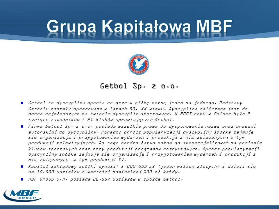 Grupa Kapitałowa MBF Getbol Sp. z o.o.