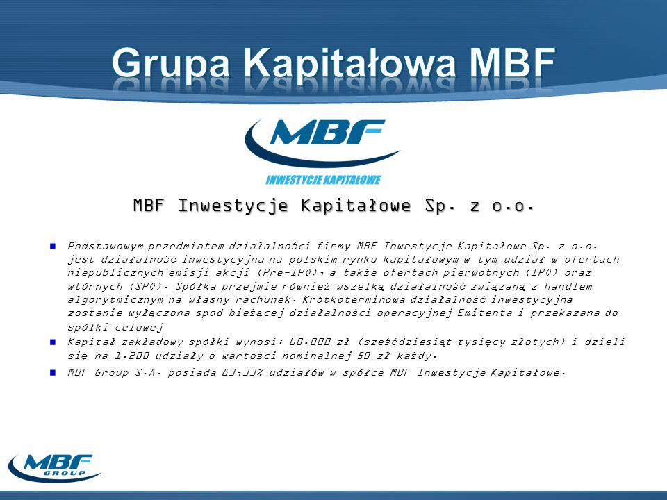 MBF Inwestycje Kapitałowe Sp. z o.o.