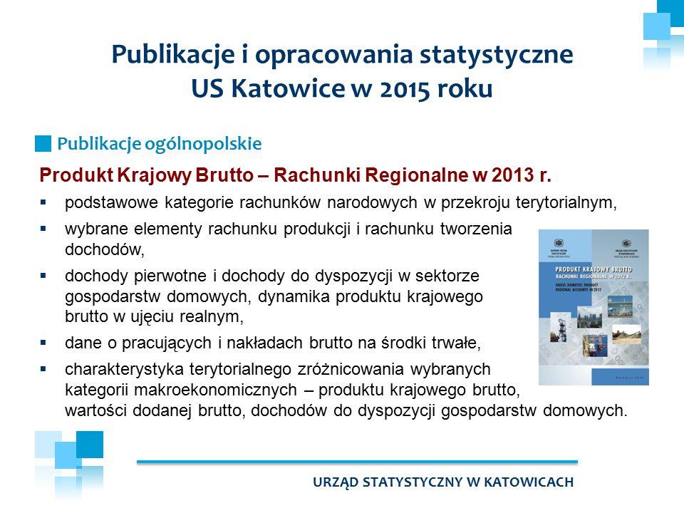 Publikacje i opracowania statystyczne US Katowice w 2015 roku