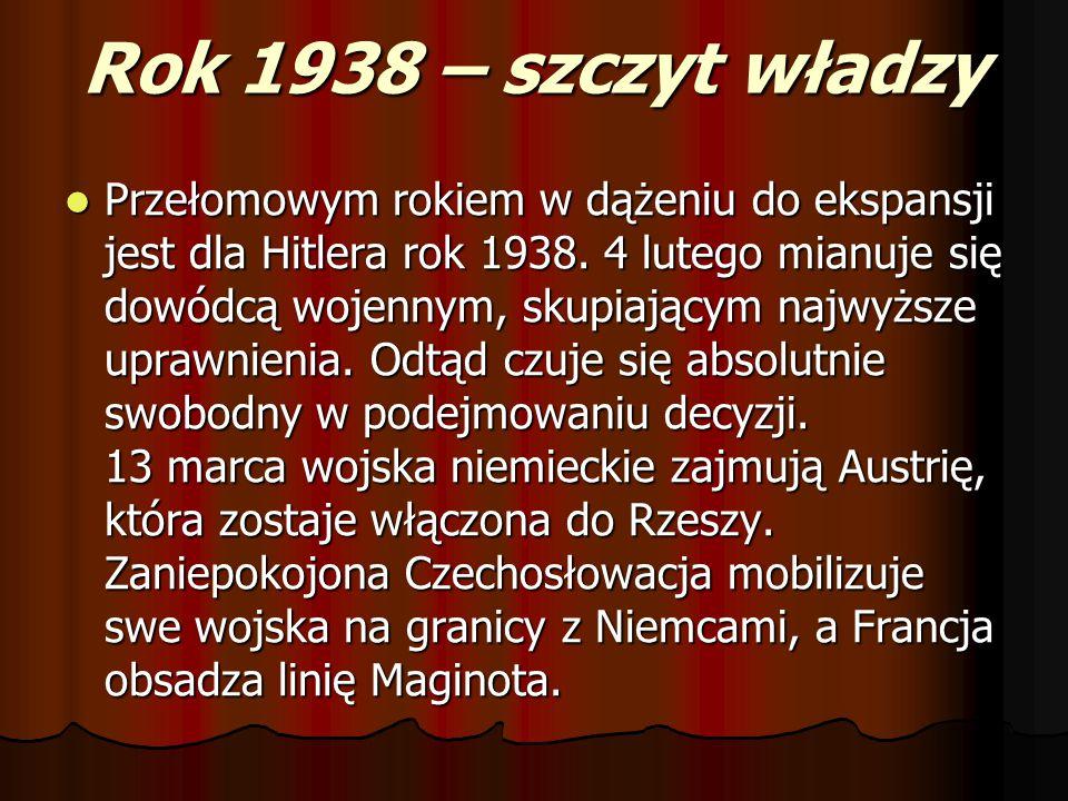 Rok 1938 – szczyt władzy