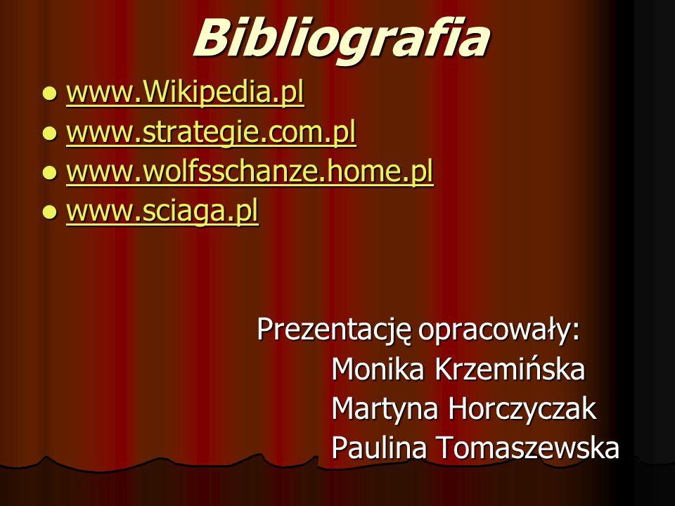 Bibliografia www.Wikipedia.pl www.strategie.com.pl