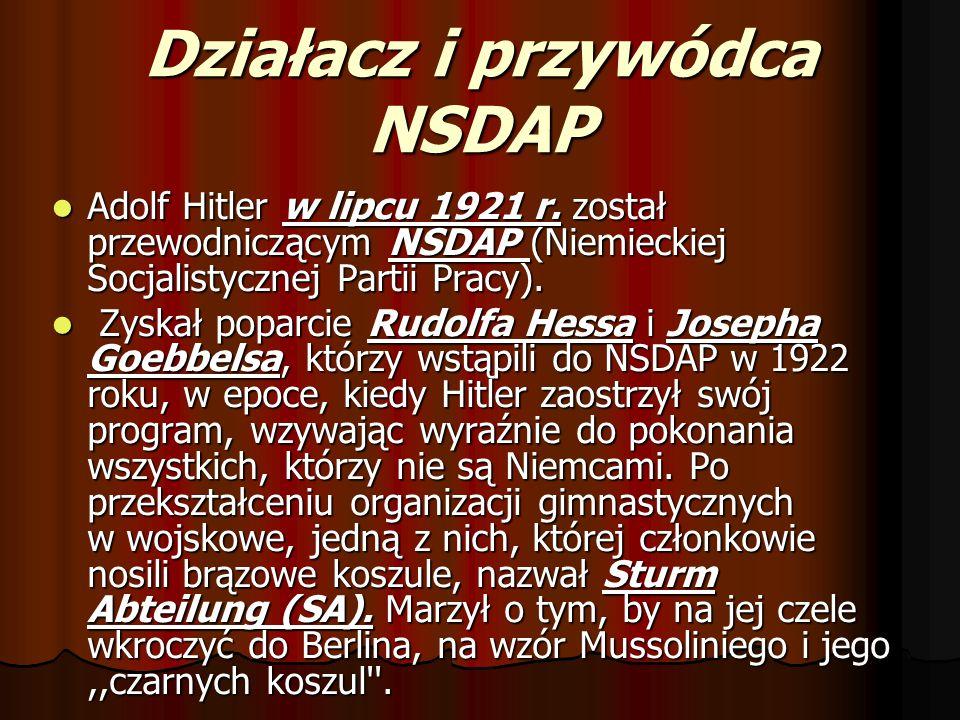 Działacz i przywódca NSDAP