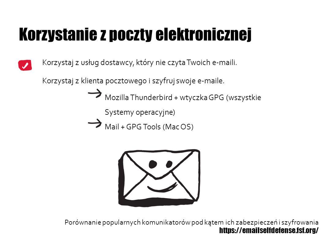 Korzystanie z poczty elektronicznej