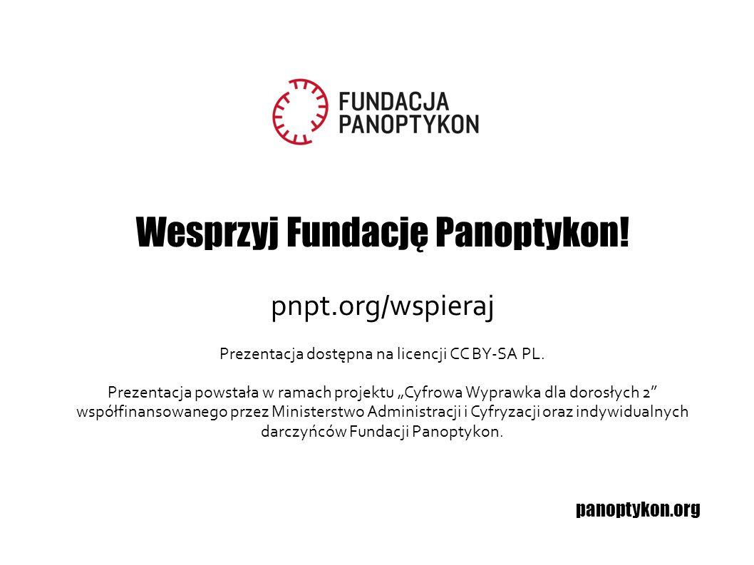 Wesprzyj Fundację Panoptykon!