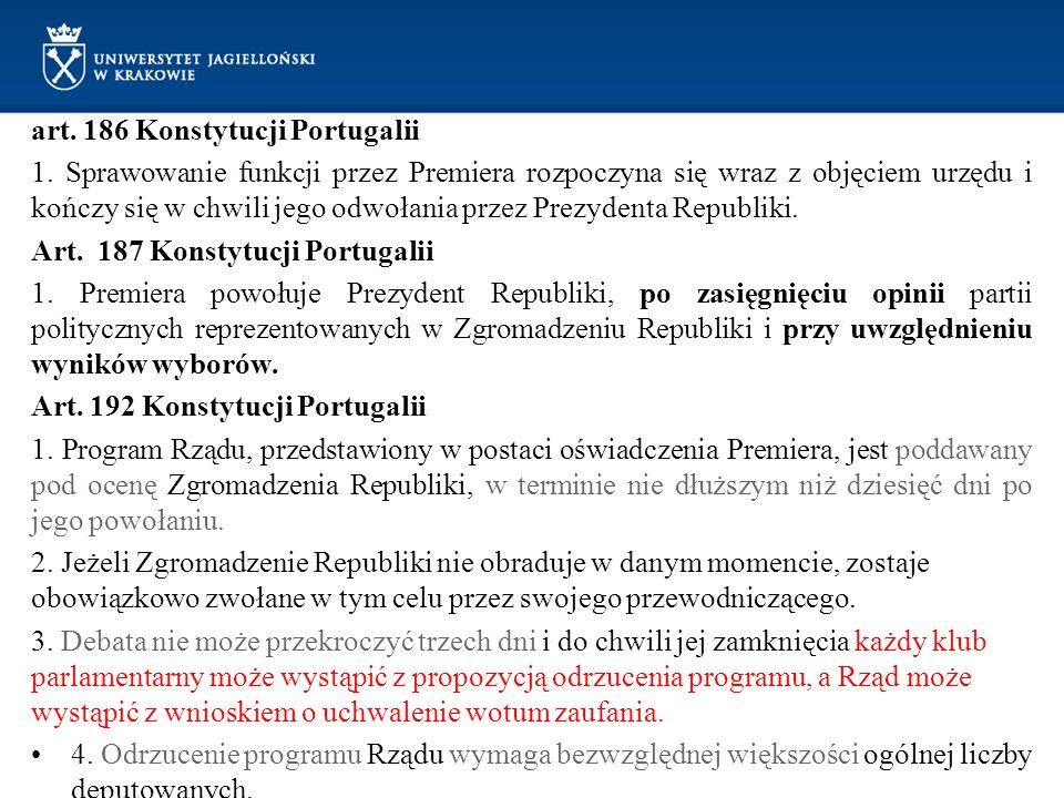 art. 186 Konstytucji Portugalii