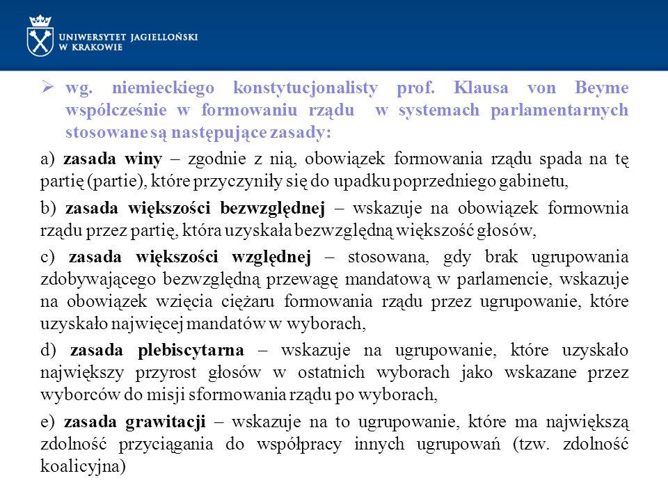 wg. niemieckiego konstytucjonalisty prof