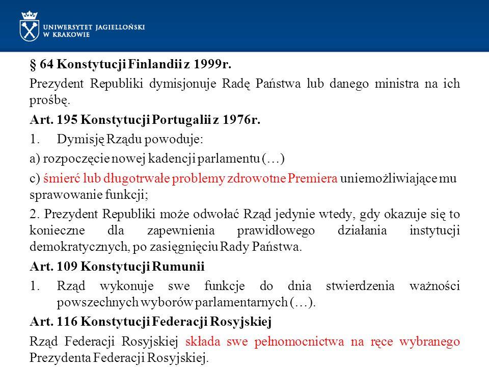 § 64 Konstytucji Finlandii z 1999r.