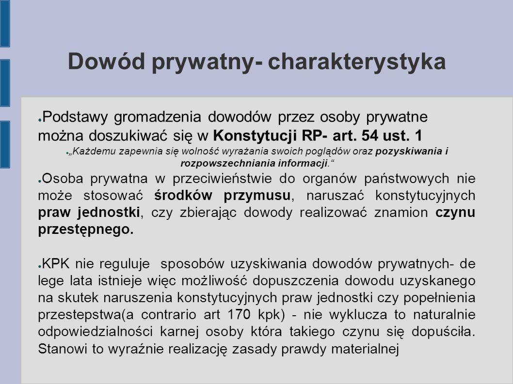 Dowód prywatny- charakterystyka