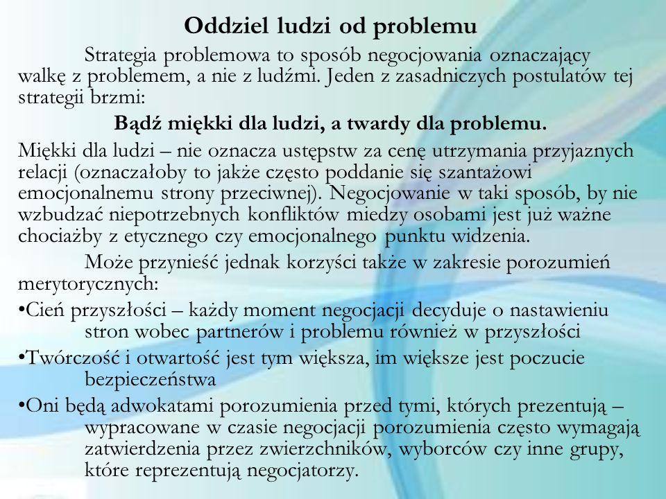 Oddziel ludzi od problemu